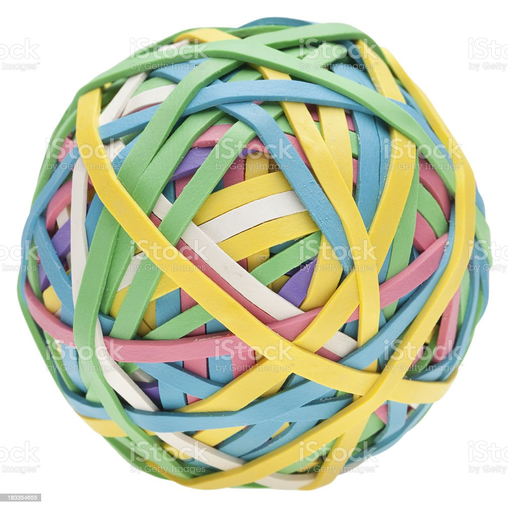 rubber band ball royalty-free stock photo