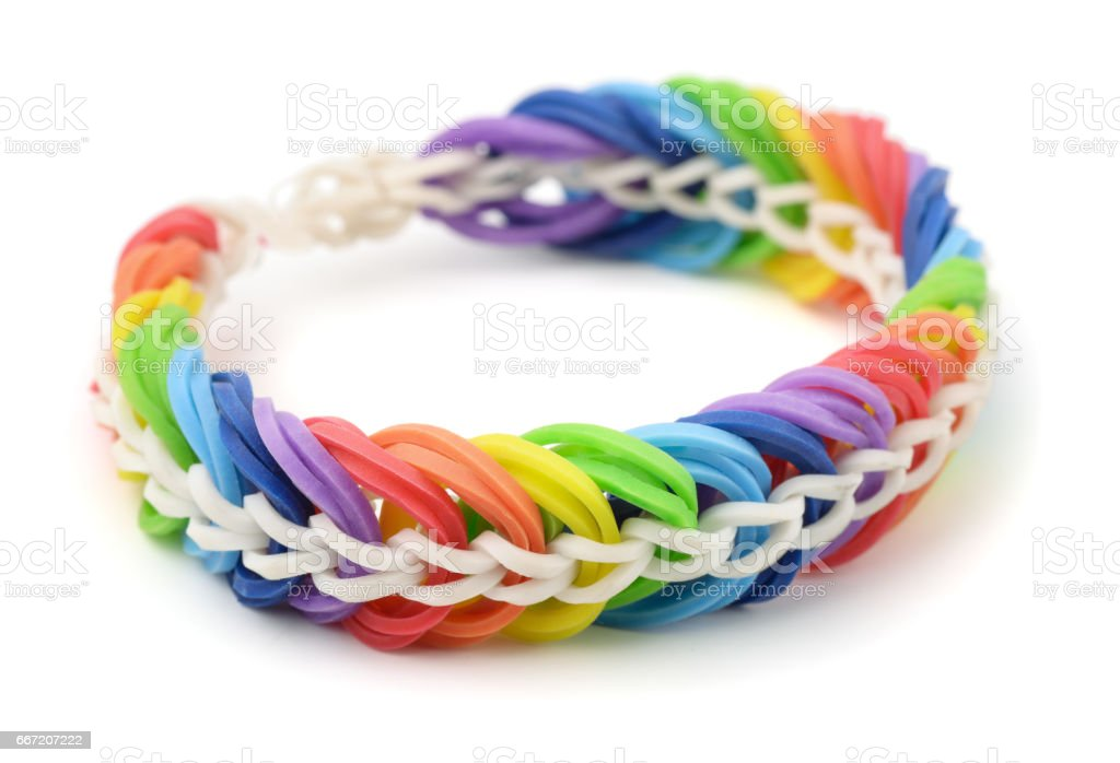 Rubber band bracelet royalty-free stock photo