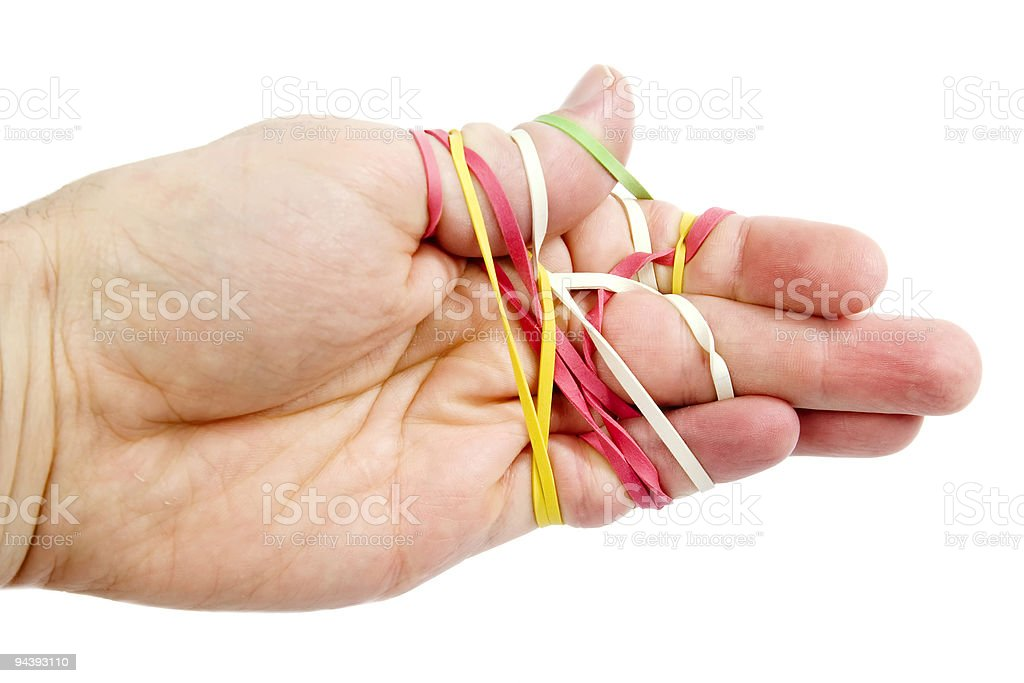 Rubber Band Tangle royalty-free stock photo