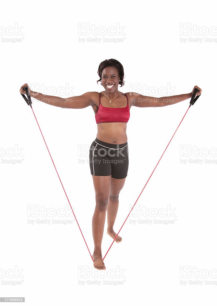 Rubber Band Training royalty-free stock photo