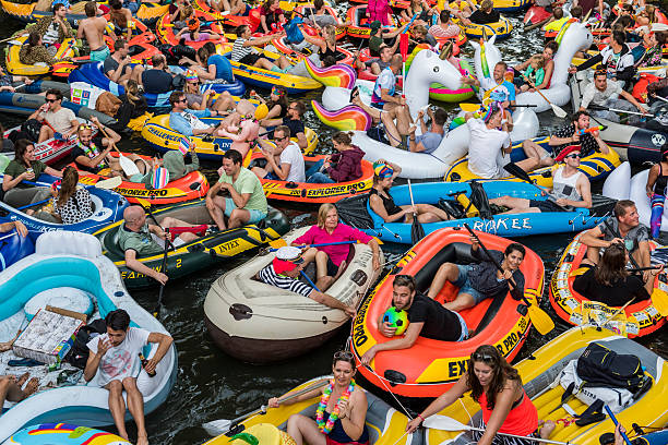 Rubber Boat Mission in Canals of Utrecht,  Netherlands​​​ foto