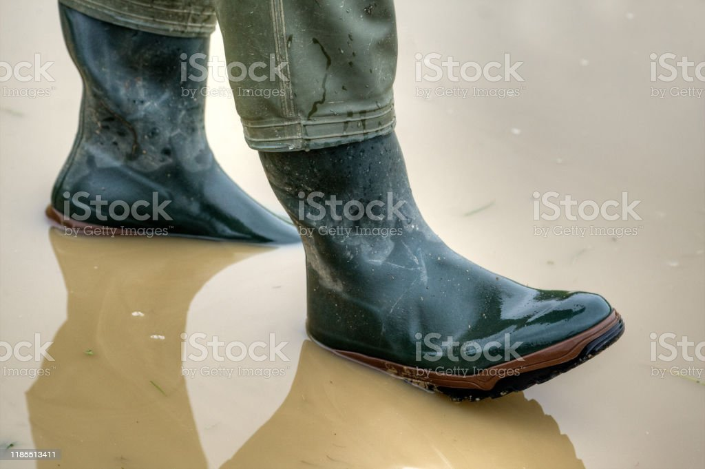 Rubber boots for rainy days. - Royalty-free Adult Stock Photo