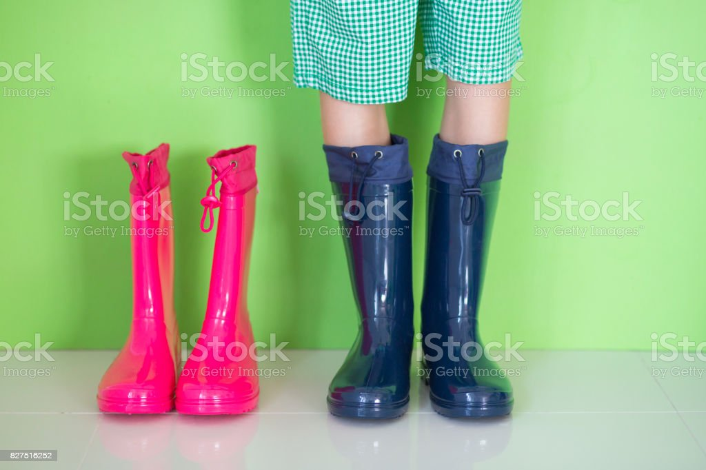 Rubber boots - low section stock photo