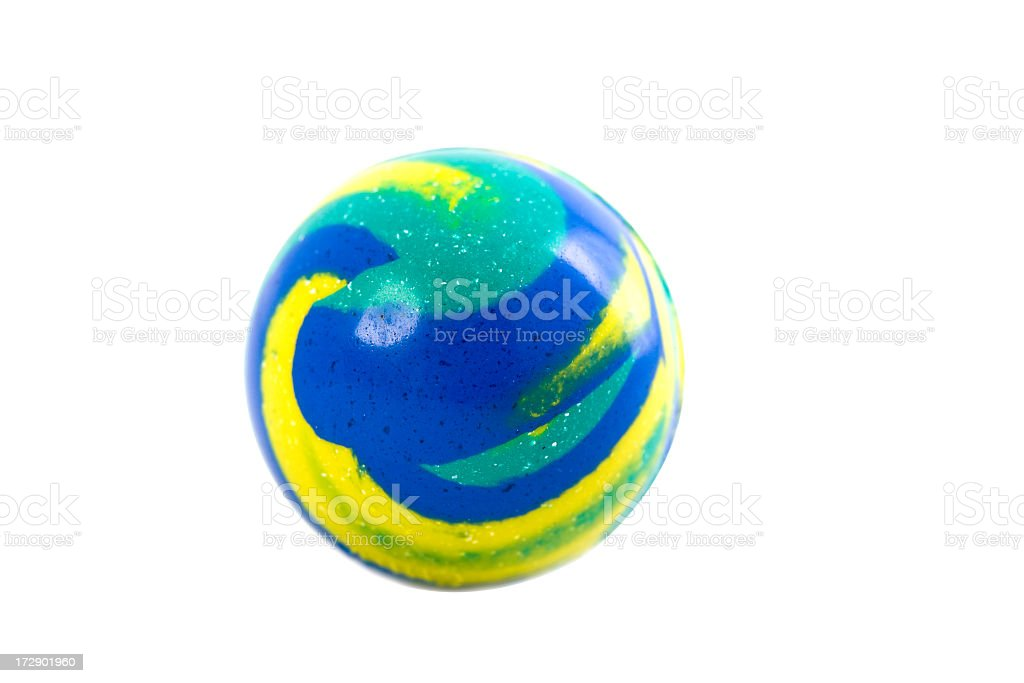 Rubber Bouncy Ball with Clipping Path stock photo