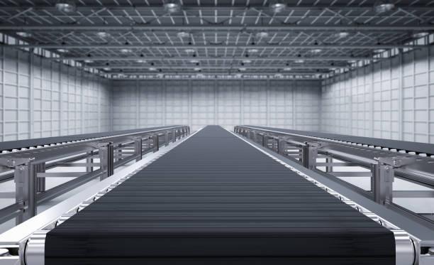 rubber conveyor belt - conveyor belt stock photos and pictures