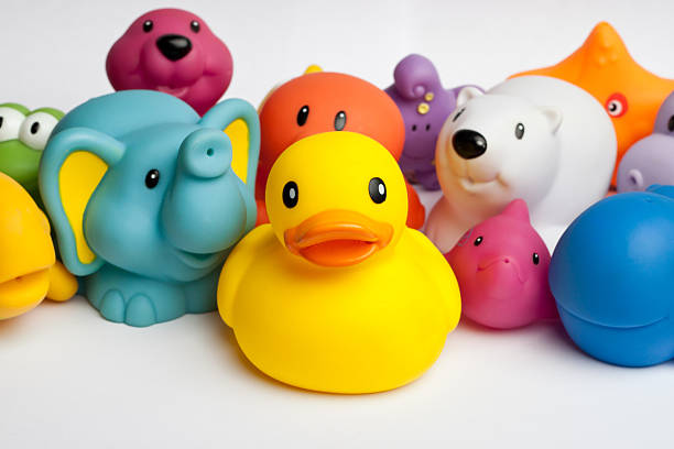 Rubber duck and friends stock photo