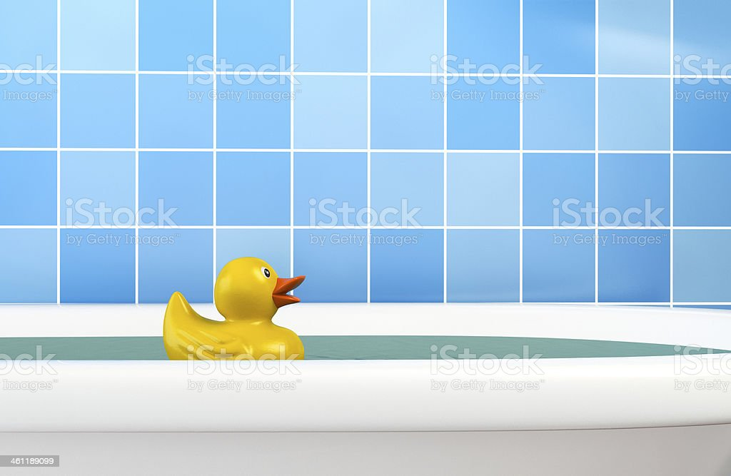 Rubber Duck in Bath stock photo