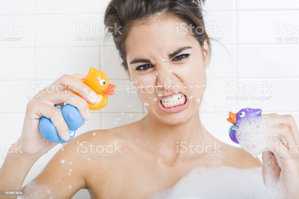 Rubber Ducky Wars stock photo