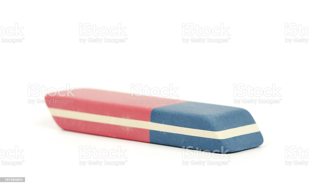 rubber eraser isolated on white royalty-free stock photo
