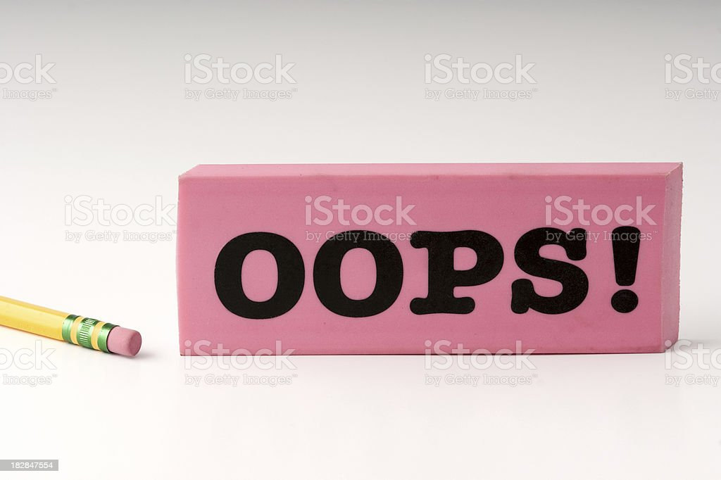 OOPS Rubber Eraser royalty-free stock photo