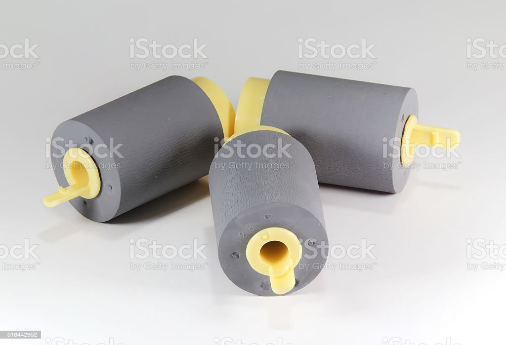 Rubber Feed Roll stock photo