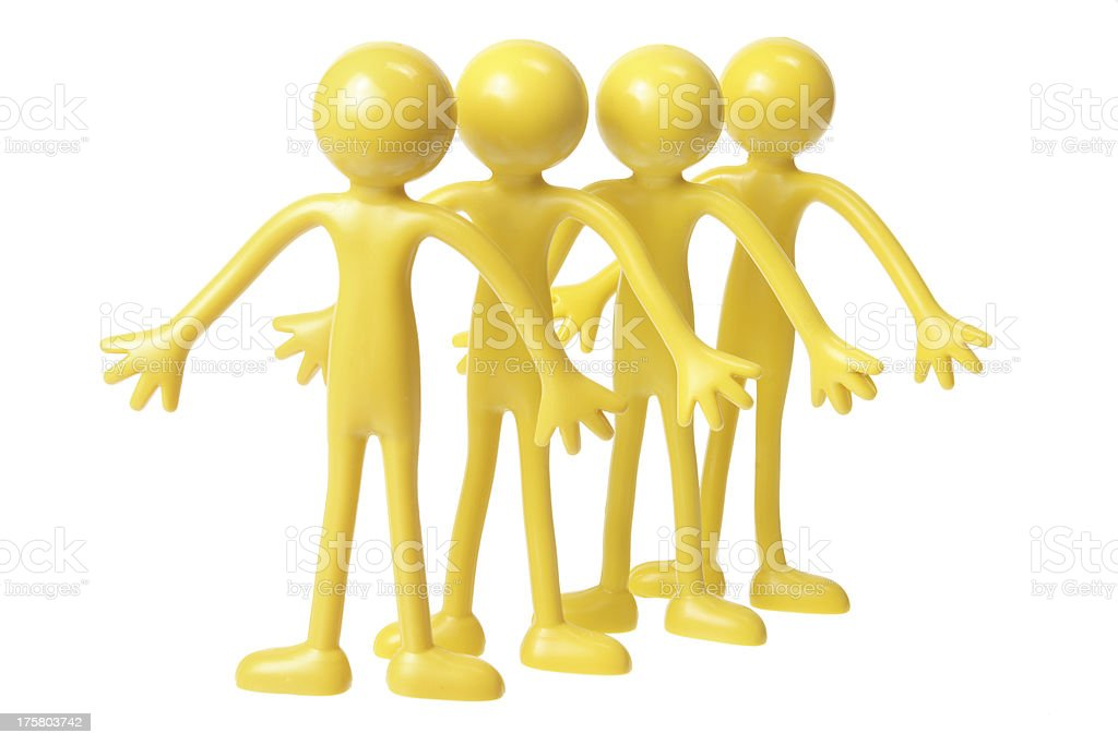 Rubber Figures royalty-free stock photo