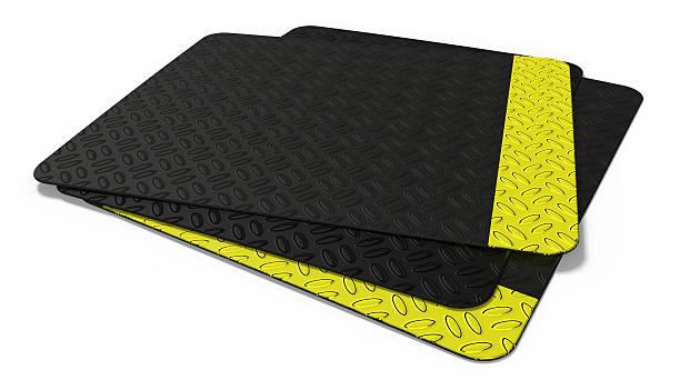 Rubber floor mat stock photo