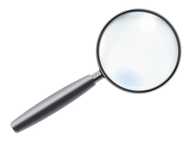 """Rubber Handle Magnifying Glass """"Rubber handle magnifying glass, isolated on white background."""" low scale magnification stock pictures, royalty-free photos & images"""