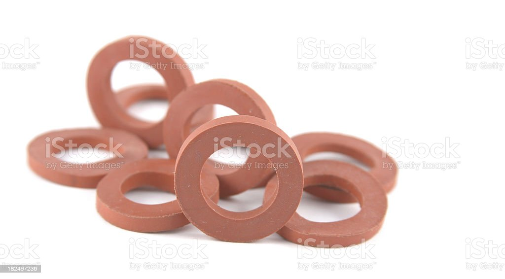 Rubber Hose Washers royalty-free stock photo