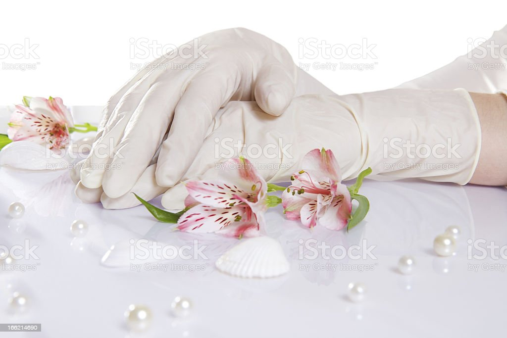rubber medical gloves royalty-free stock photo