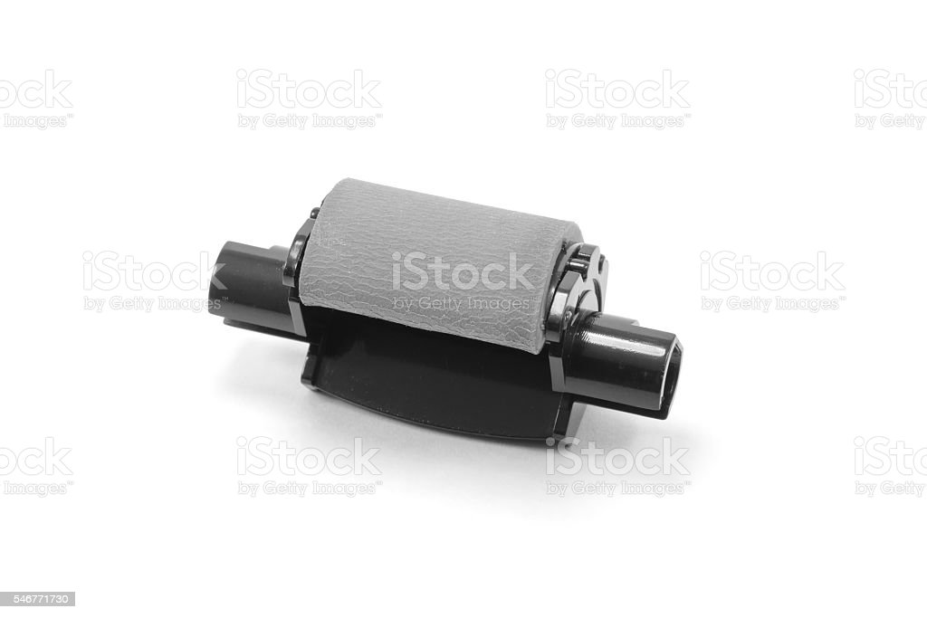 Rubber paper feed roll for copier or printer stock photo