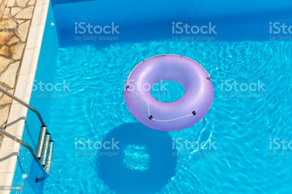 Rubber ring in the swimming pool foto de stock royalty-free
