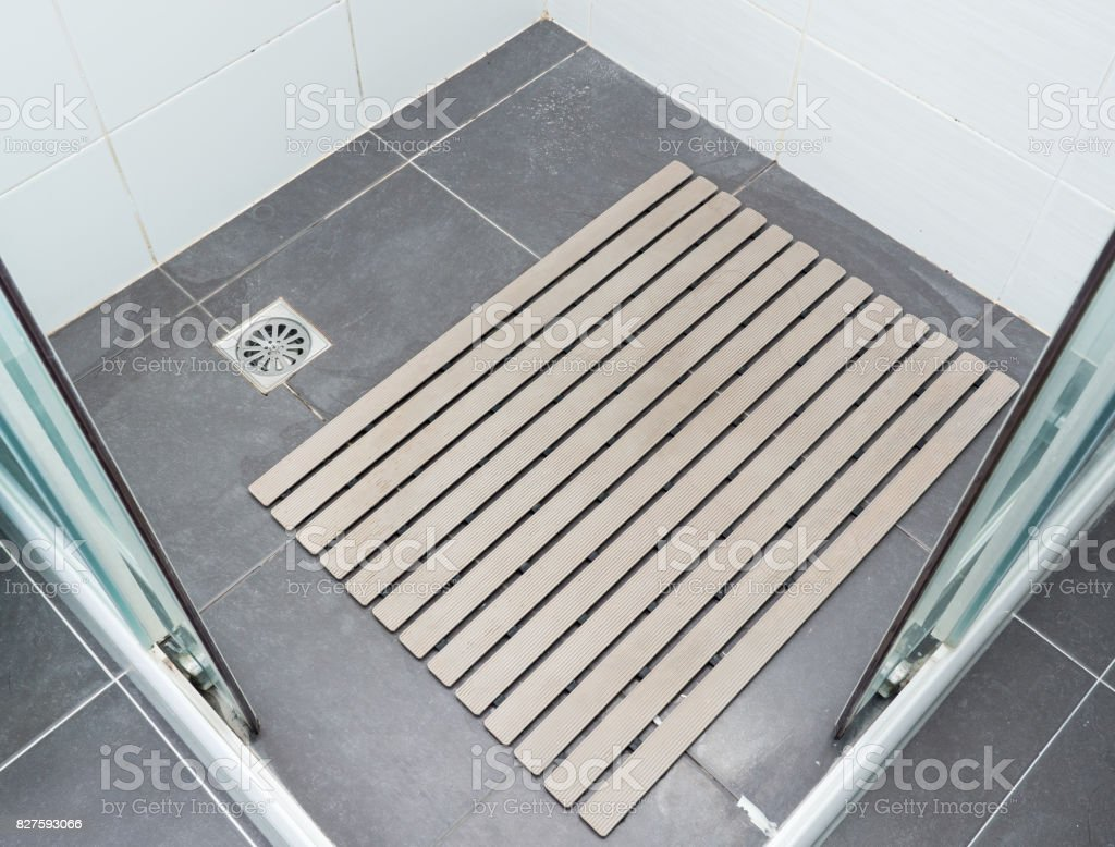 Rubber slip pad with the many hair. stock photo