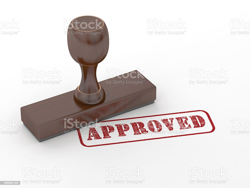 Rubber stamp - Approved royalty-free stock photo