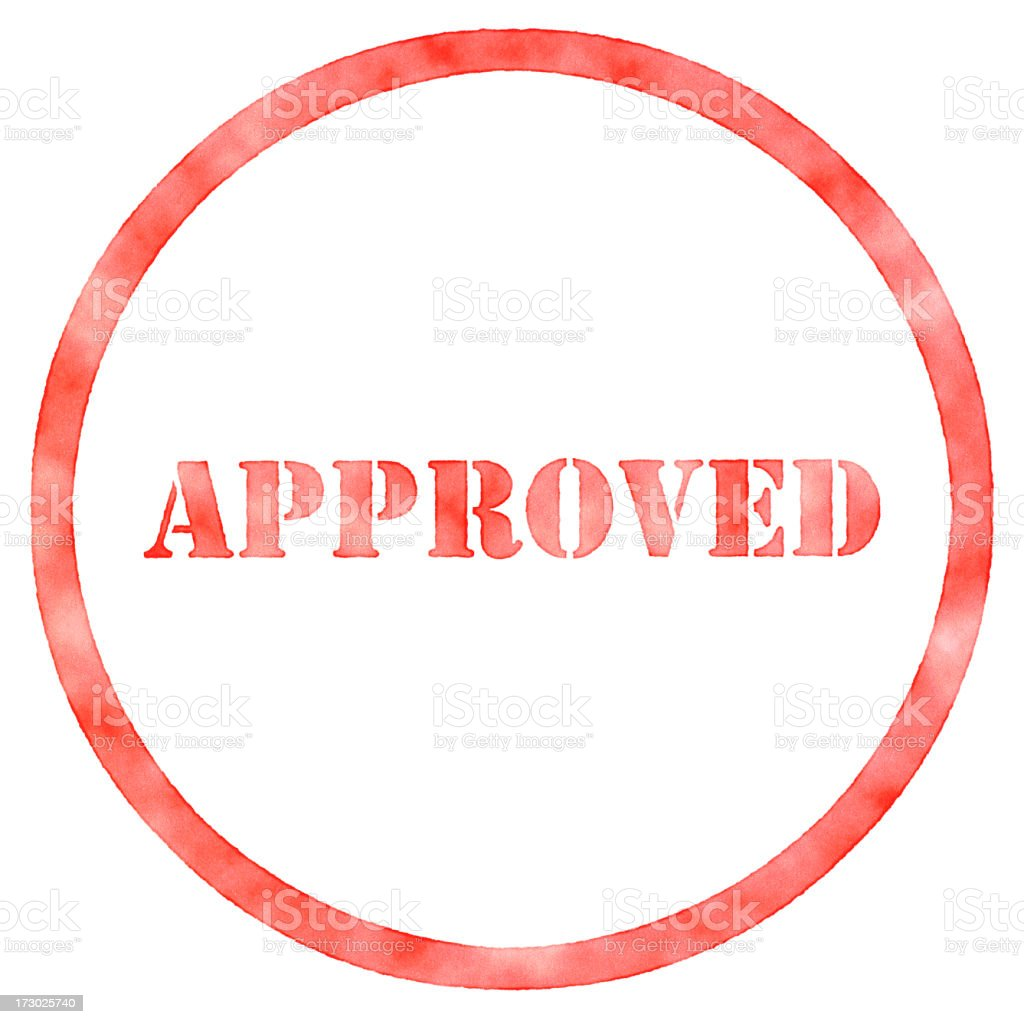 Rubber Stamp Approved XXL royalty-free stock photo