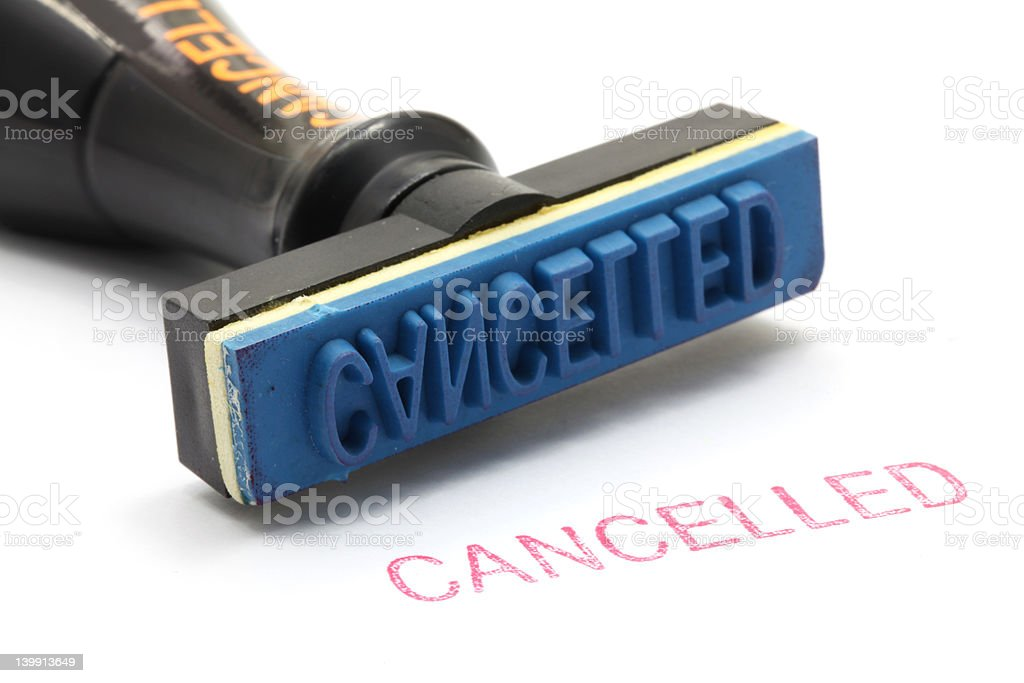 rubber stamp cancel stock photo