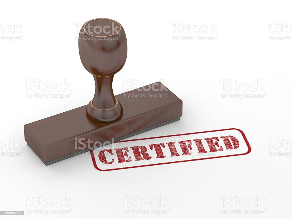 Rubber stamp - Certified stock photo