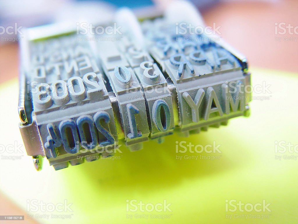 Rubber Stamp - Date 03 stock photo