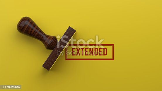 istock EXTENDED Rubber Stamp On Yellow Background 3D Rendering 1178959657