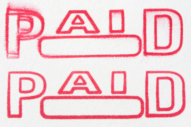 rubber stamp paid - paid stock pictures, royalty-free photos & images