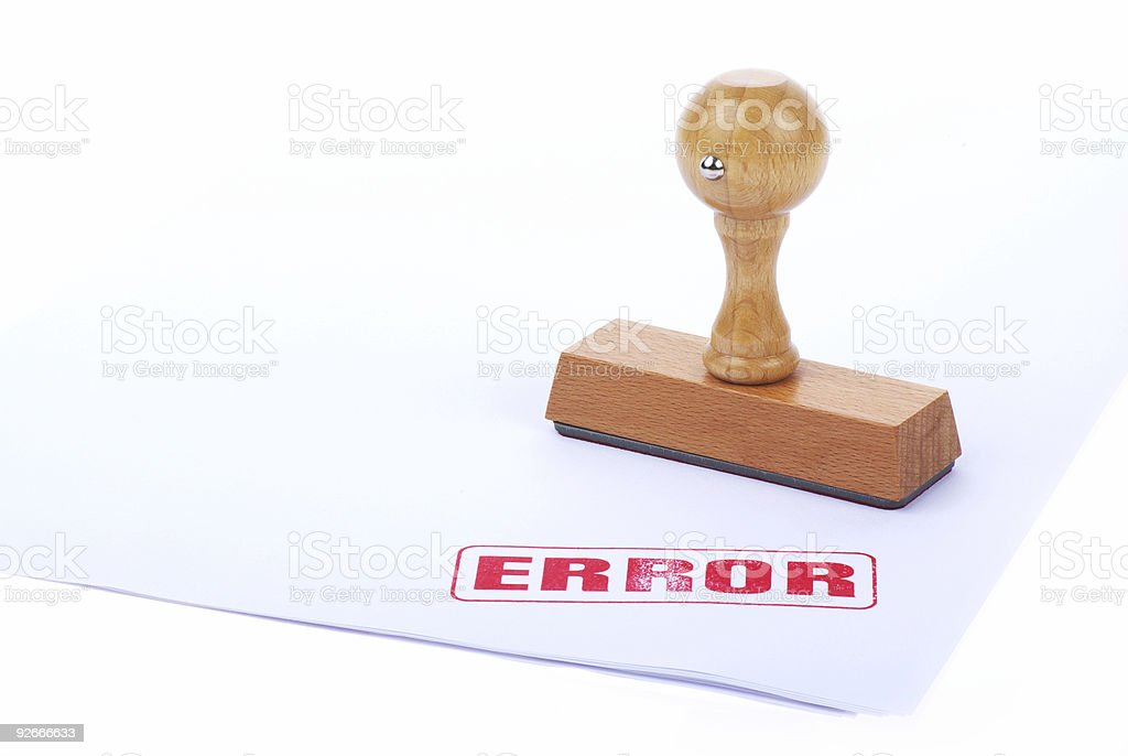 ERROR rubber stamp royalty-free stock photo