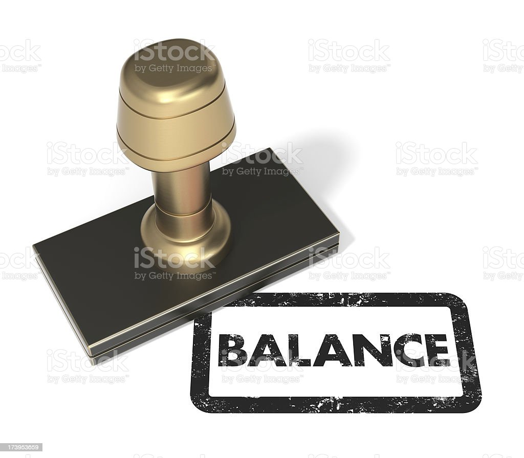 "Rubber stamp ""Balance"" royalty-free stock photo"