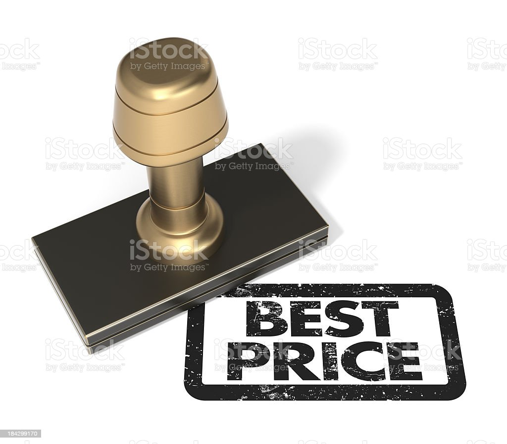 "Rubber stamp ""Best Price"" royalty-free stock photo"