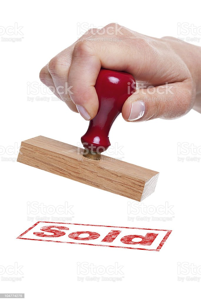 Rubber stamp Sold royalty-free stock photo