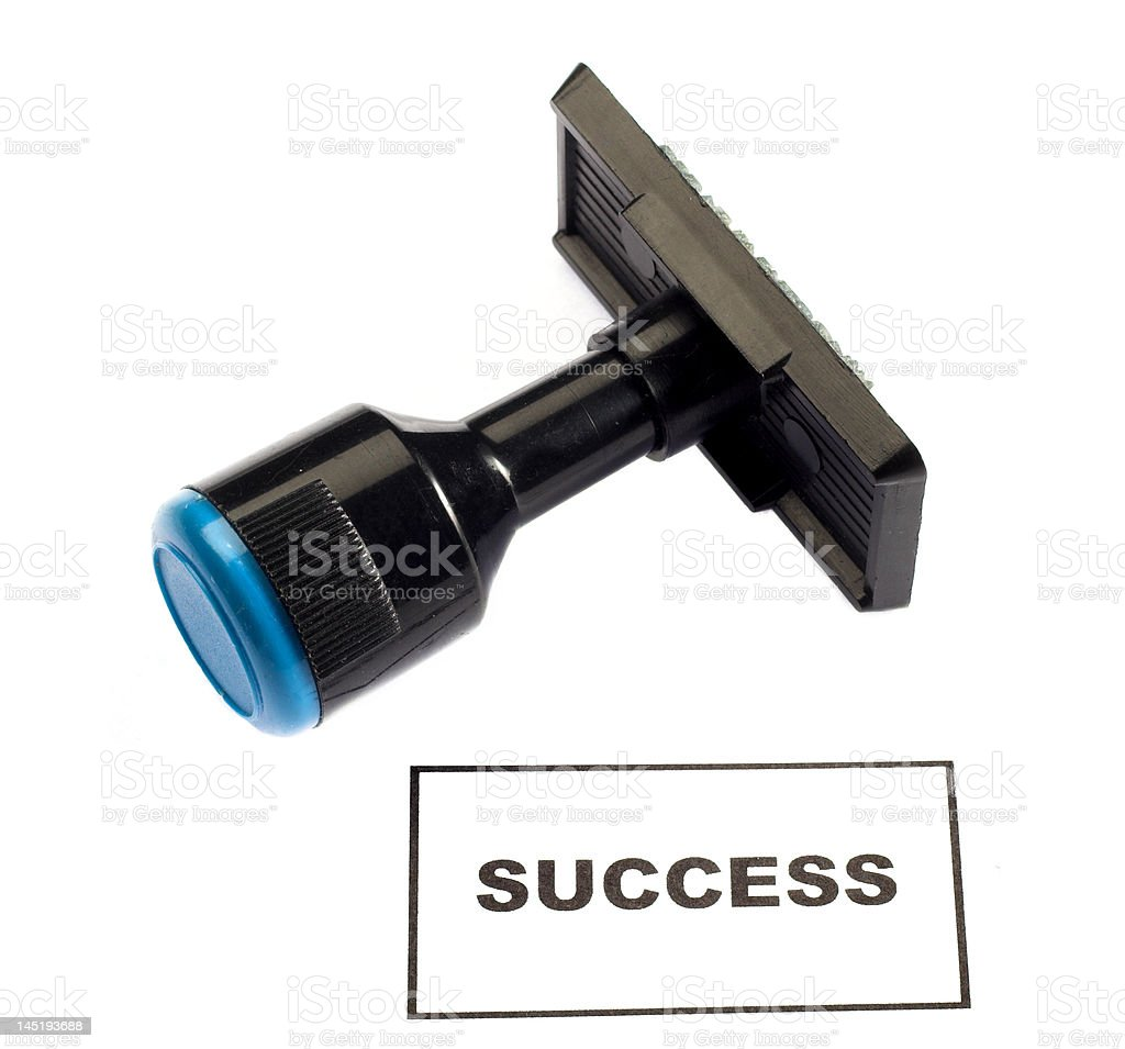 rubber stamp success royalty-free stock photo