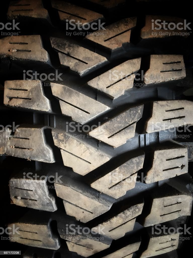 Rubber wheel texture and background stock photo
