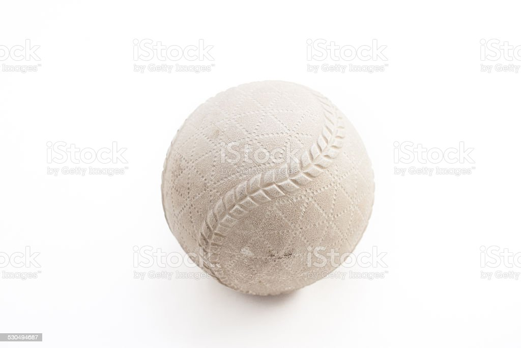 Rubber-ball baseball stock photo
