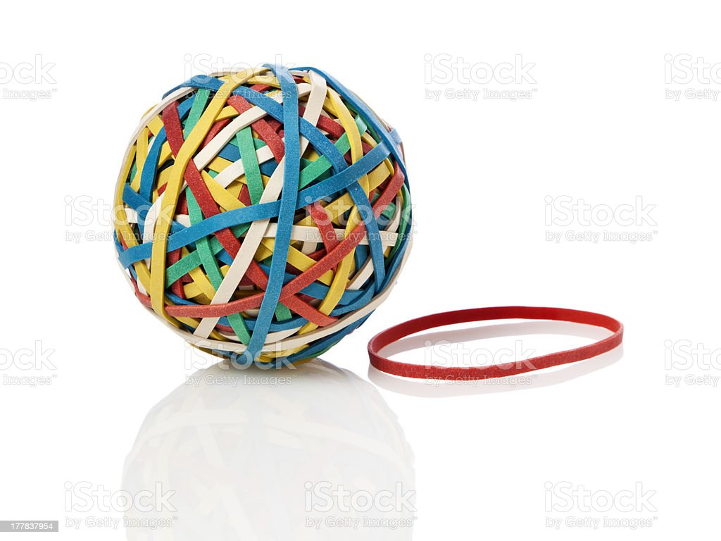 Rubberband ball stock photo