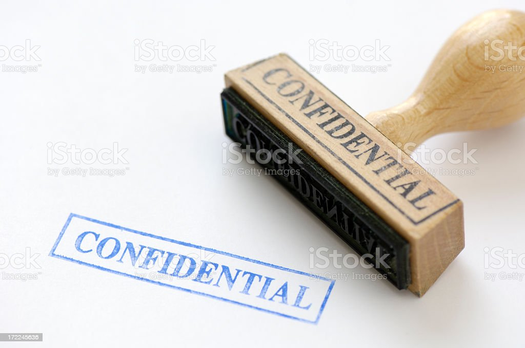 Rubberstamp of the word confidential royalty-free stock photo