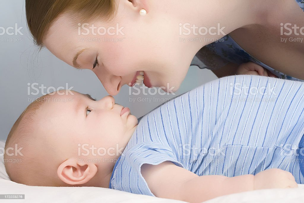 Rubbing Noses royalty-free stock photo