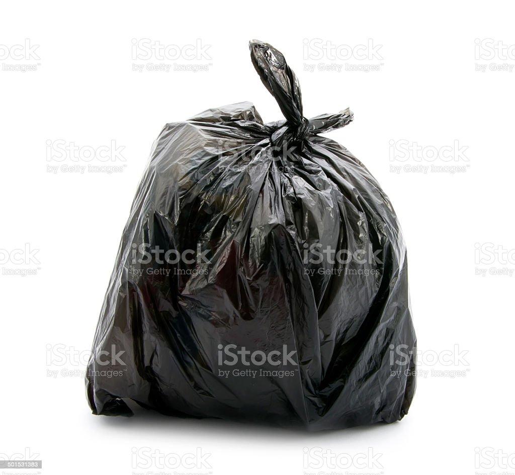 rubbish bag stock photo
