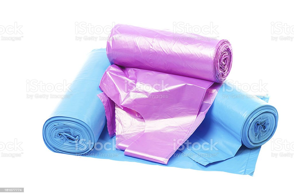 Rubbish Bags Rolls royalty-free stock photo