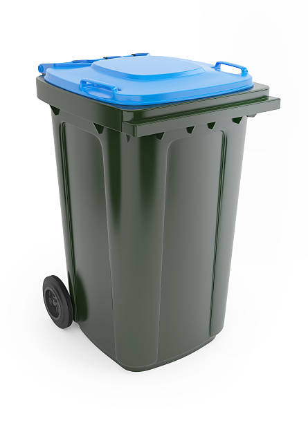 Rubbish bin stock photo