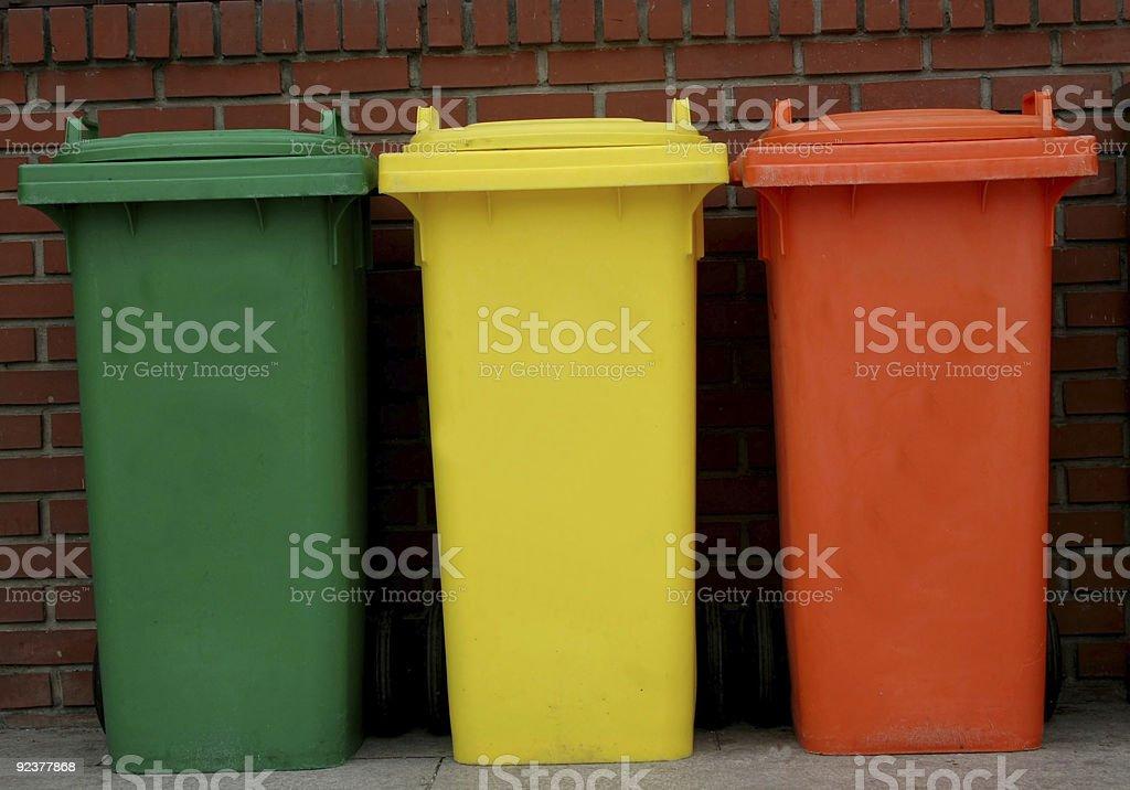 Rubbish bins royalty-free stock photo