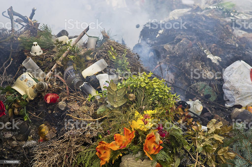 Rubbish burning royalty-free stock photo