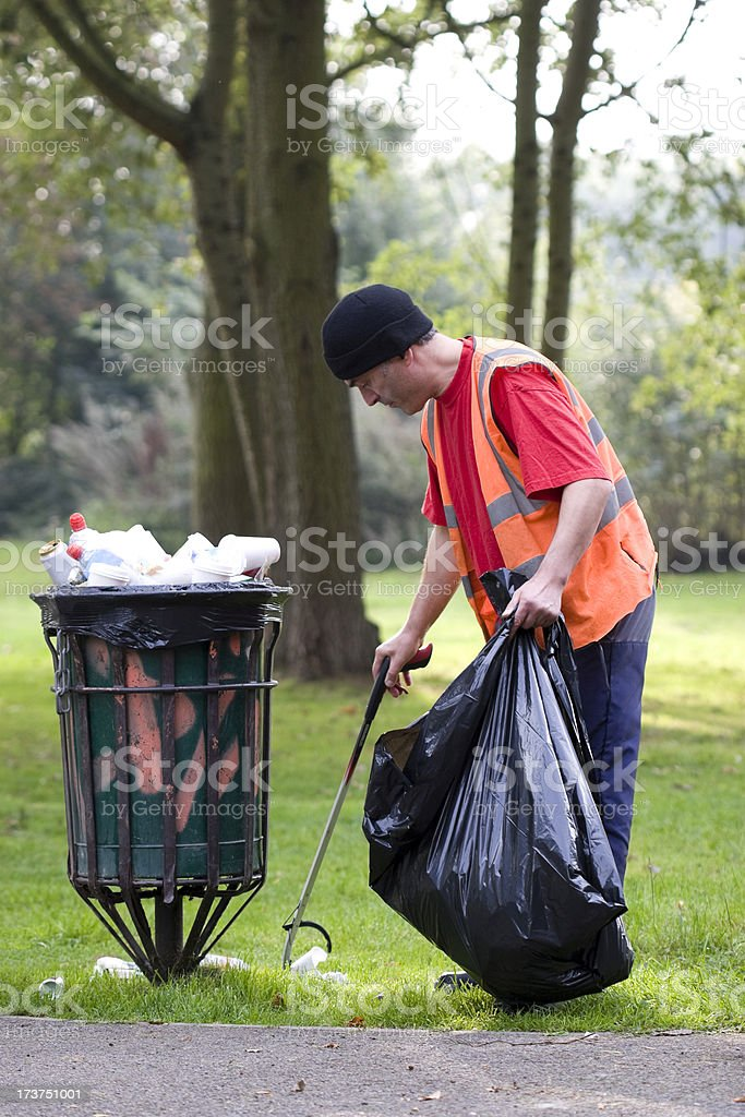 Rubbish collection royalty-free stock photo