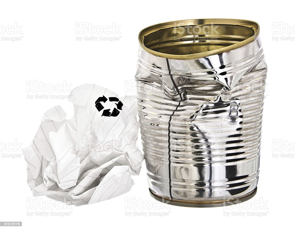 Rubbish for re-cycling royalty-free stock photo