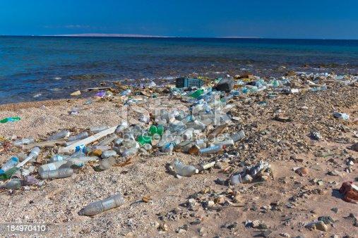 istock Rubbish in the Beach 184970410