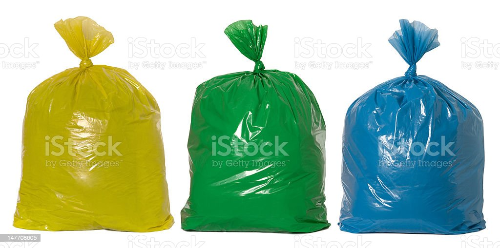 Rubbish ready for recycling stock photo