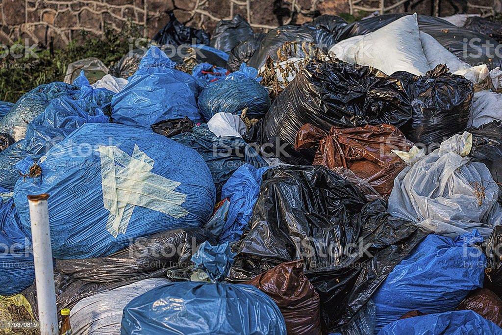 Rubbish sacs royalty-free stock photo